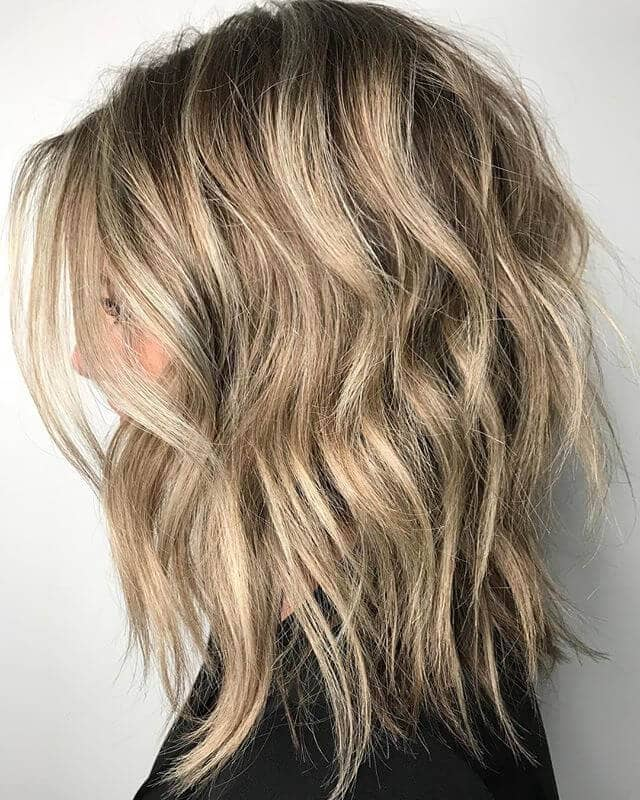Long V-cut Layers with Sandy Blond Sections