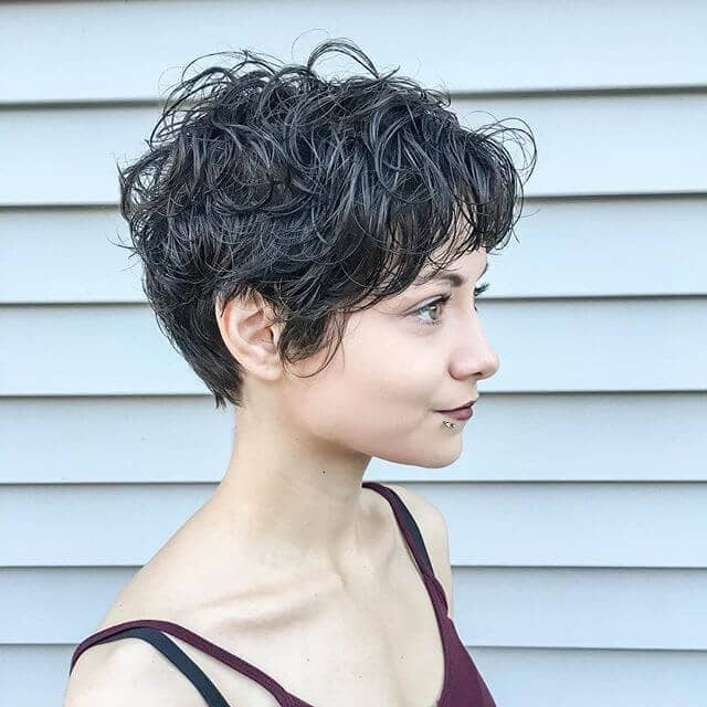 Messy-chic Pixie Shag for Thick Hair