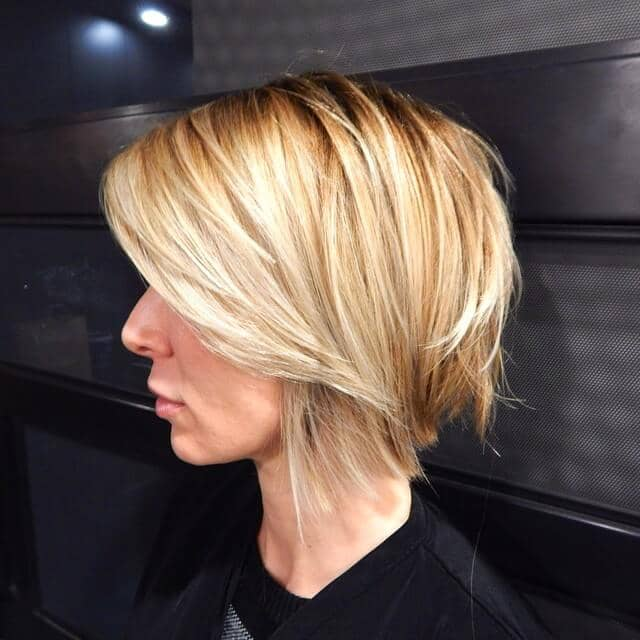 Long A-Line with Sleek Blunt Layers