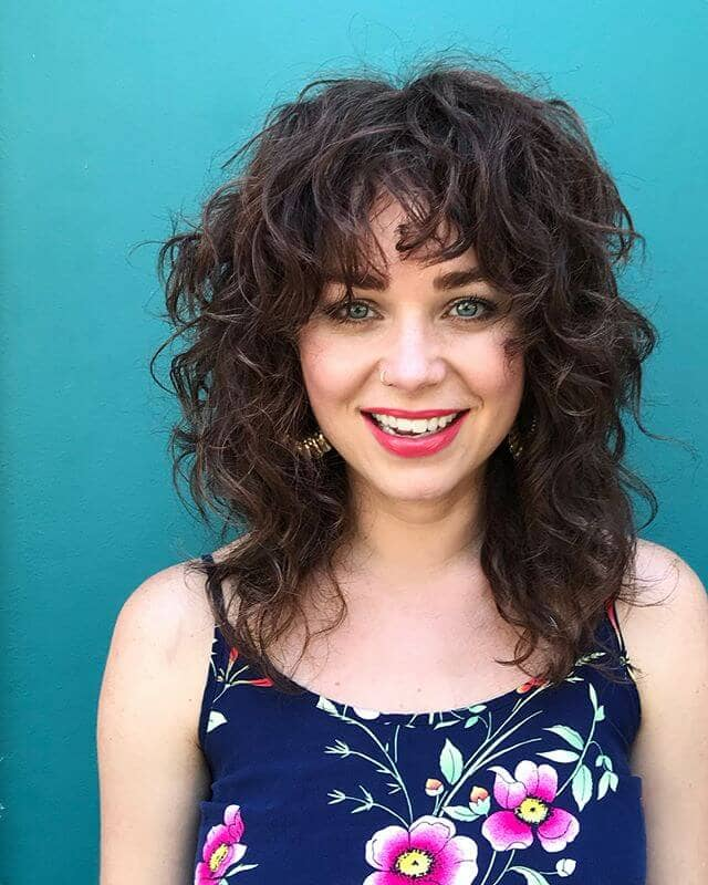 Curly Shag Layers with Easy Volume and Shape