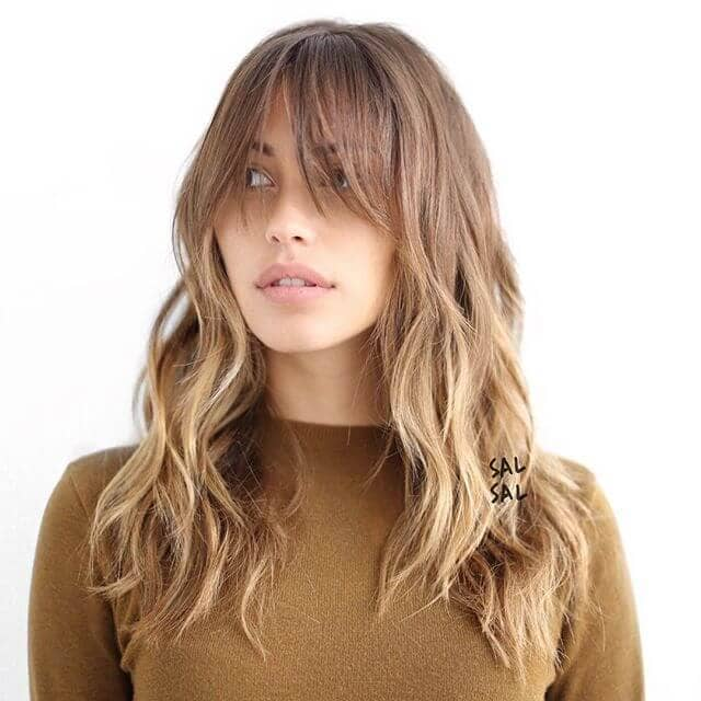 Long Shag Tiers with Soft Short Bangs
