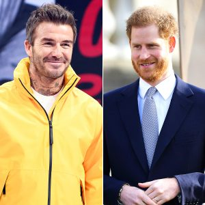 "David Beckham about Prince Harry: ""I'm proud to see him growing up"""