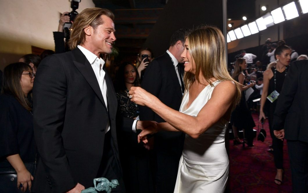 Jennifer Aniston and Brad Pitt Had Moment at Oscars 2020 Party