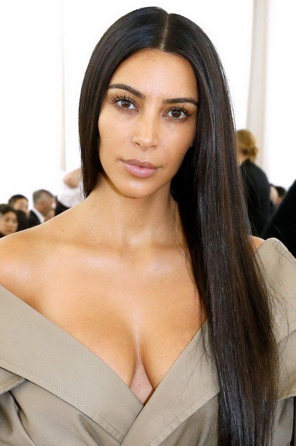 Kim Kardashian long haircut