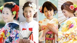 Kimono hairstyles