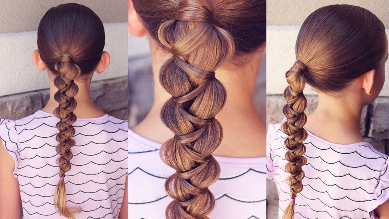 Mermaid braid hairstyle