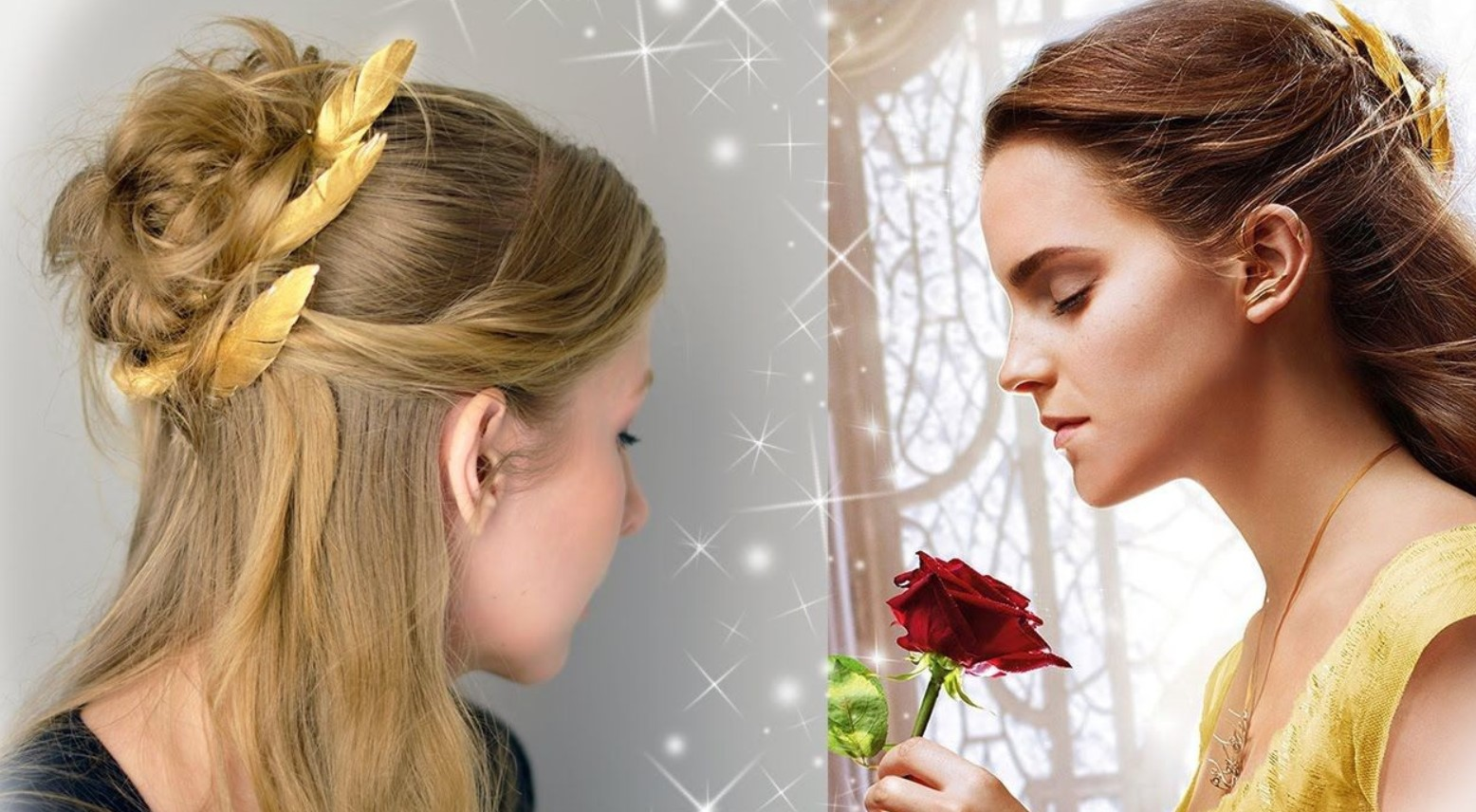 Princess Belle hairstyle