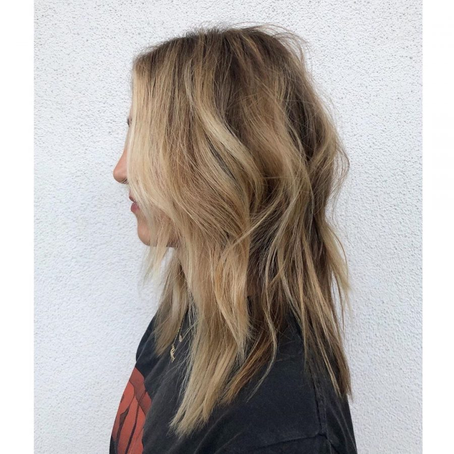 Shag Hairstyle Brown to Blond Ombre
