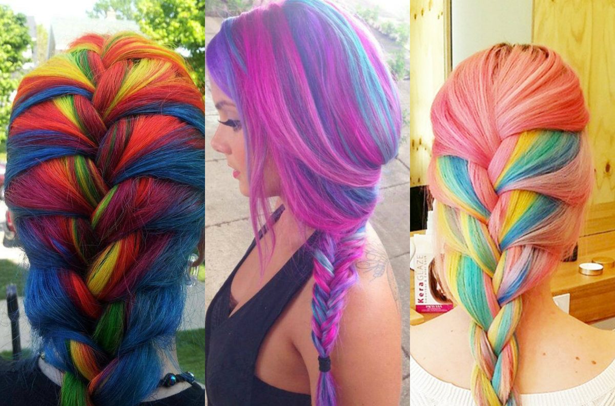 aesthetic multicolored hairstyles