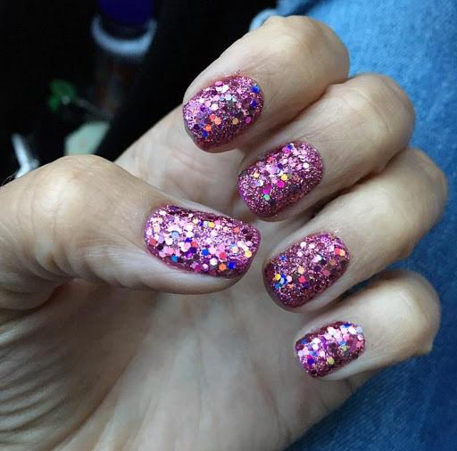 all glitter matte nails