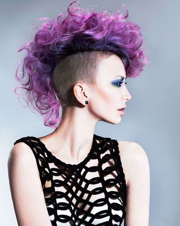 cyberpunk hairstyles curly