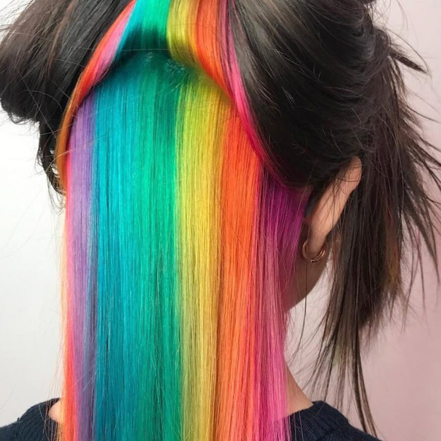 hidden rainbow hair color