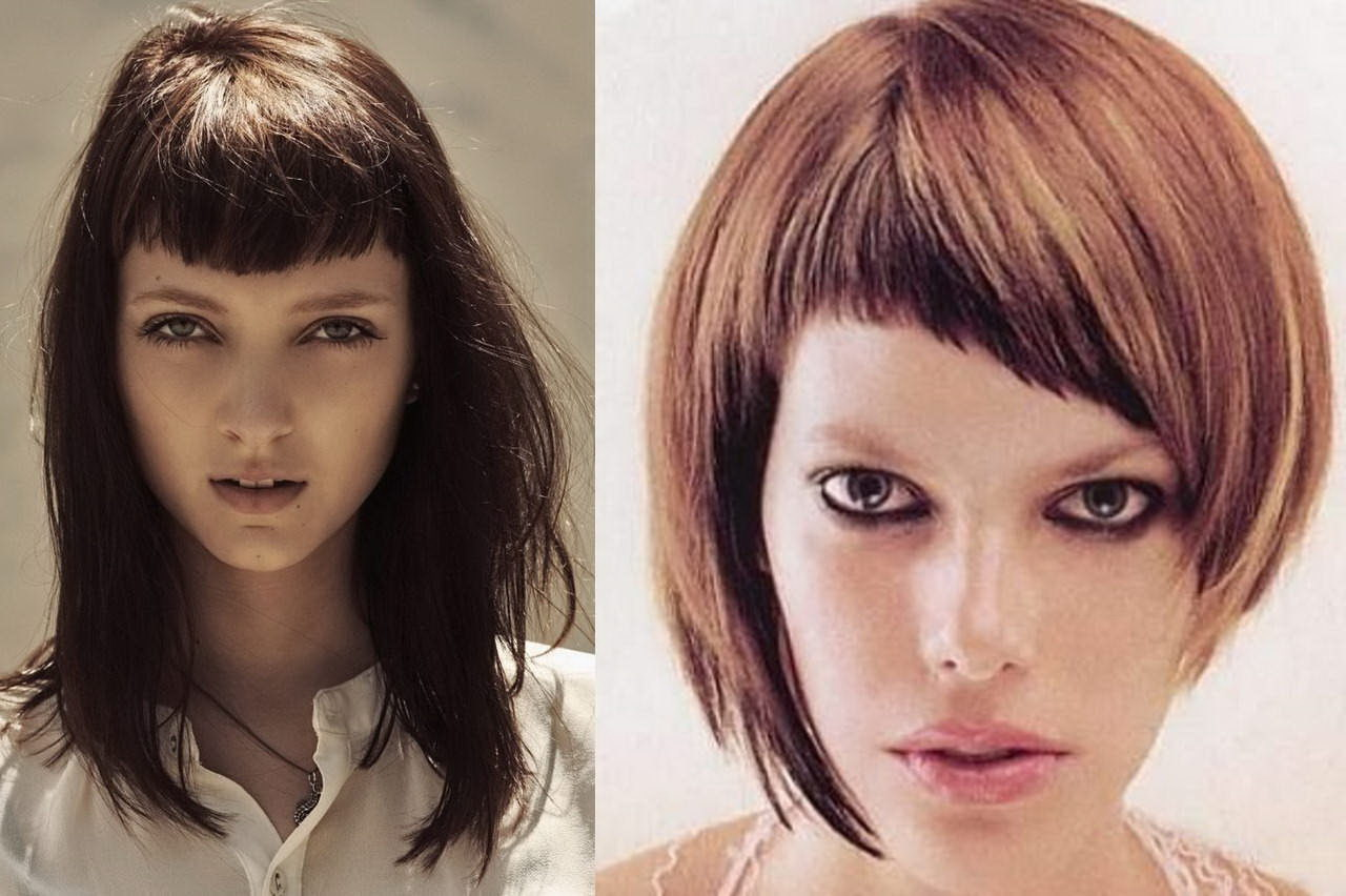 layered haircuts with bangs