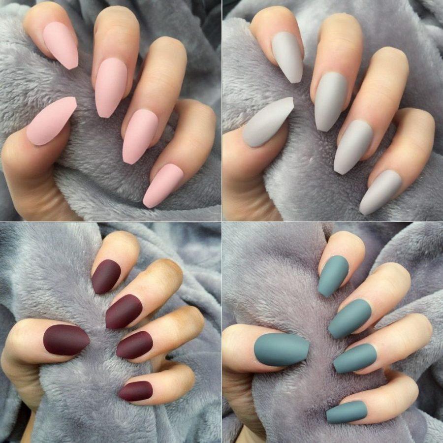 long matte nails