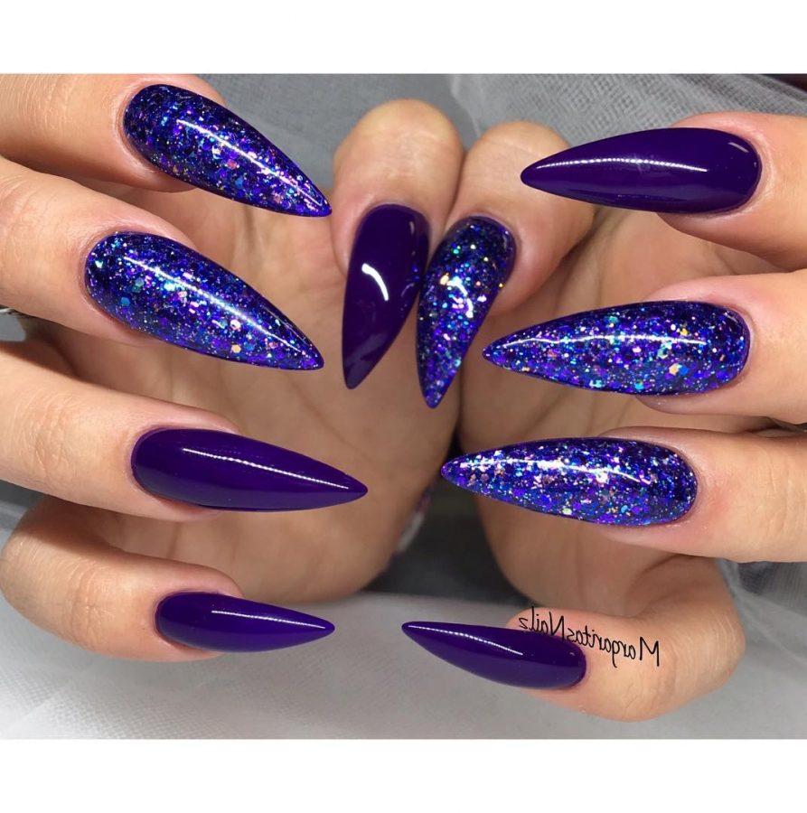 long purple nails