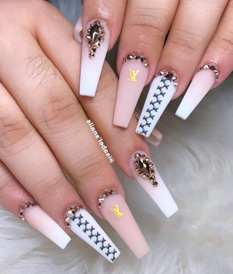 louis vuitton long nails