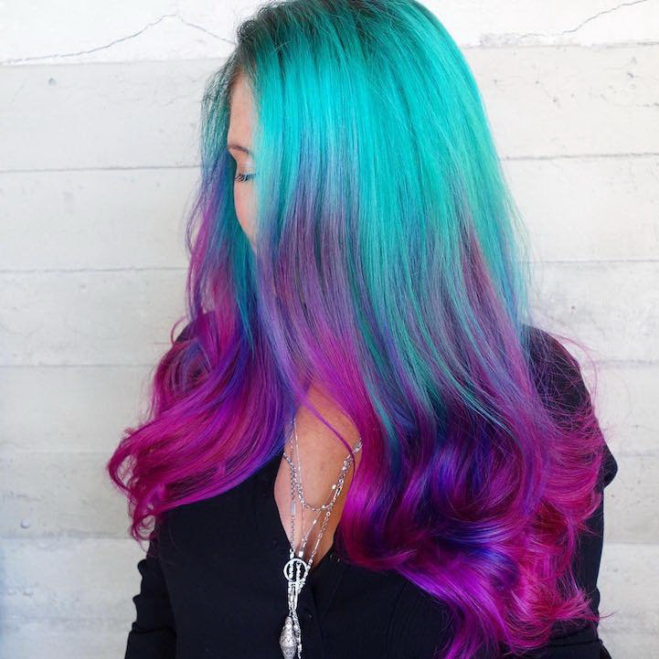 mermaid color hair