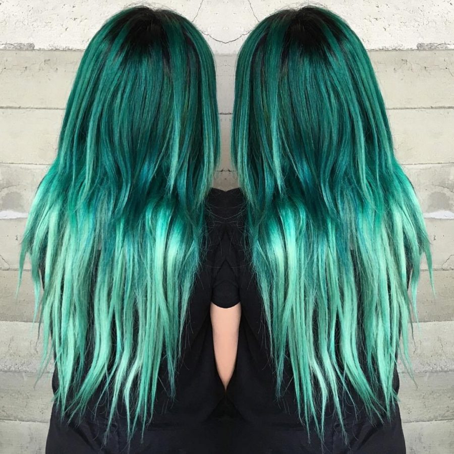 mermaid green hair