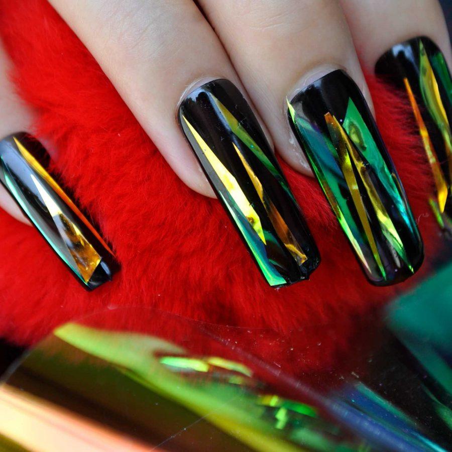 metalic long nails