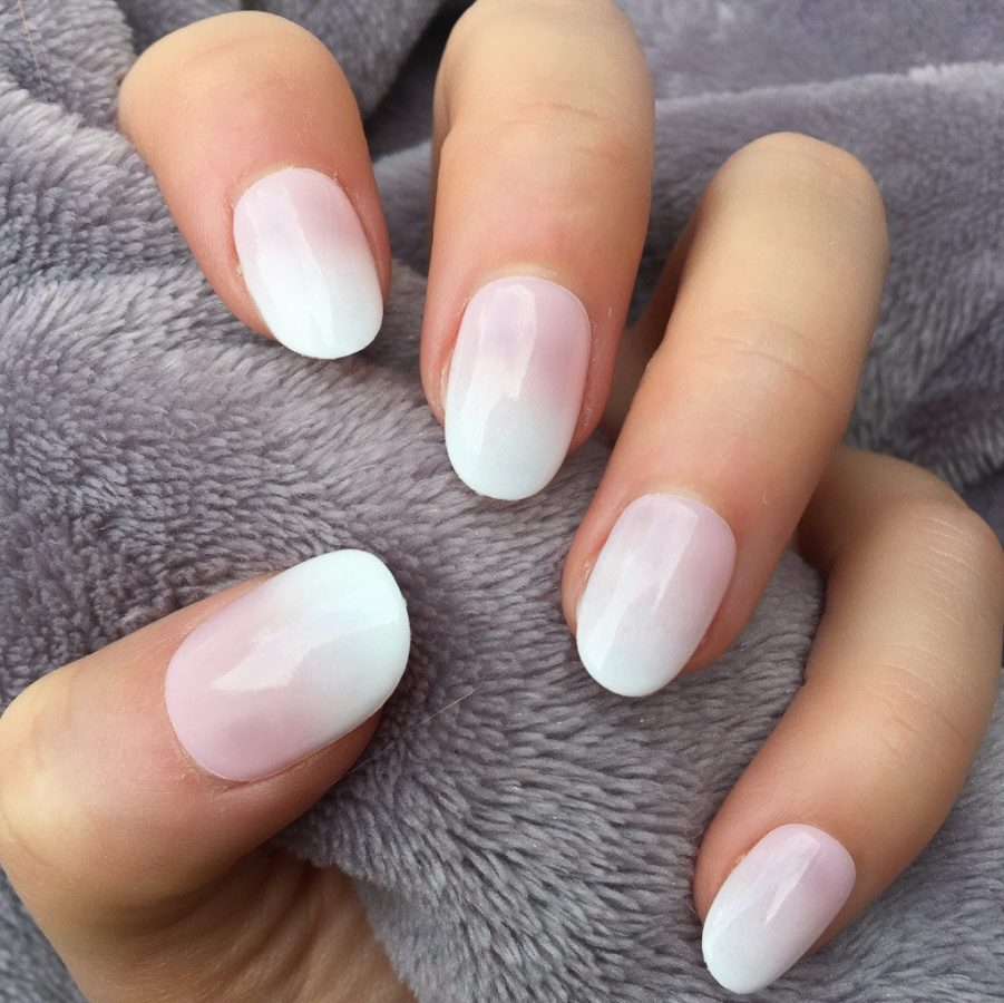 natural ombre nails