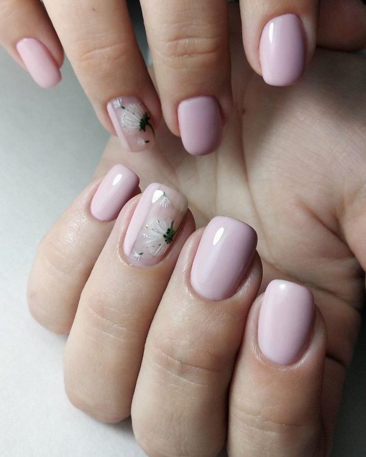 natural pink nails