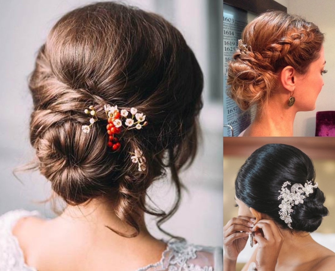 romantic bun hairstyle