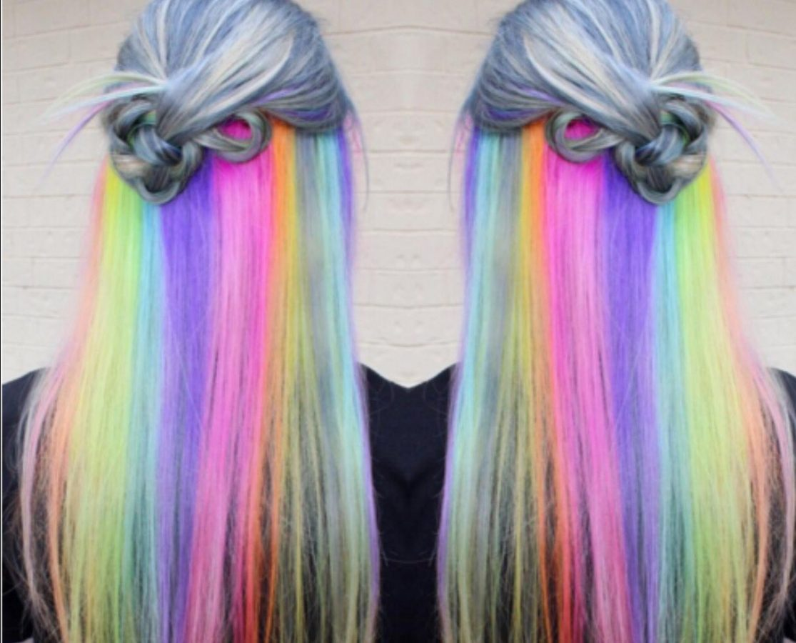 secret rainbow hair