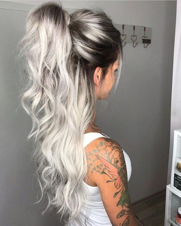 Silver hair 12