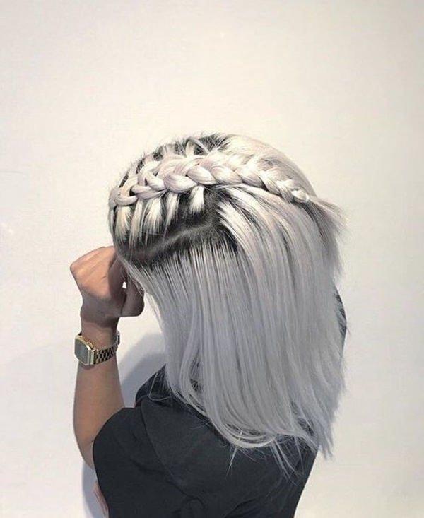 Silver hair 18