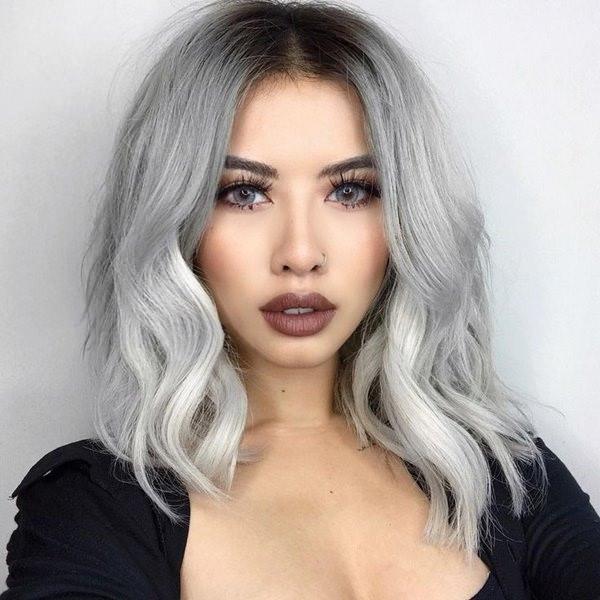 Silver hair 45