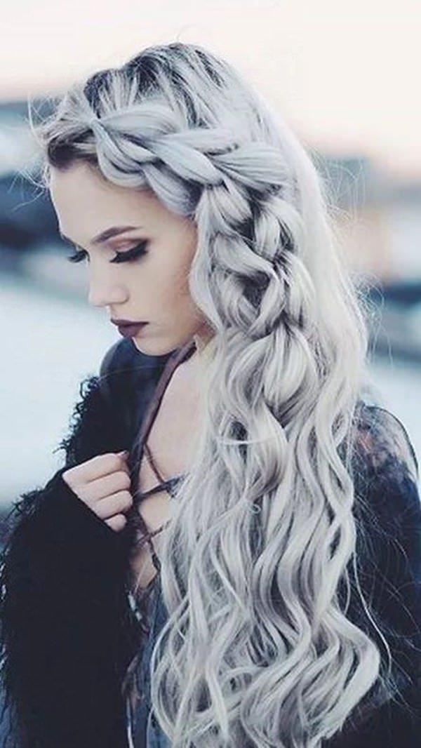 Silver hair 55