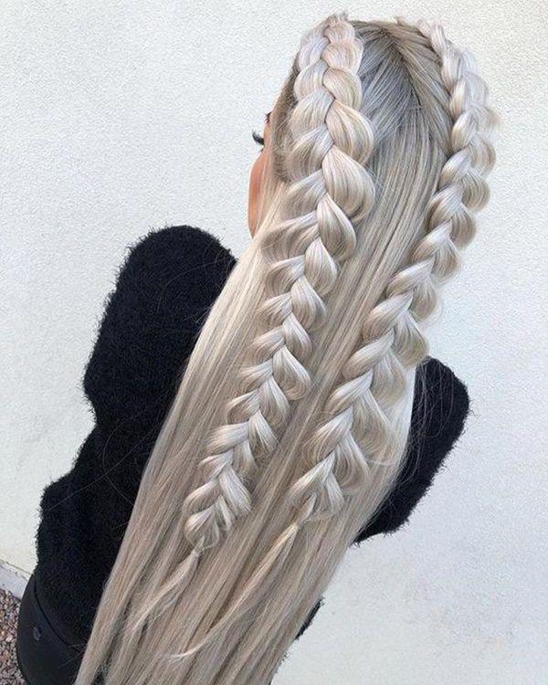Silver hair 48