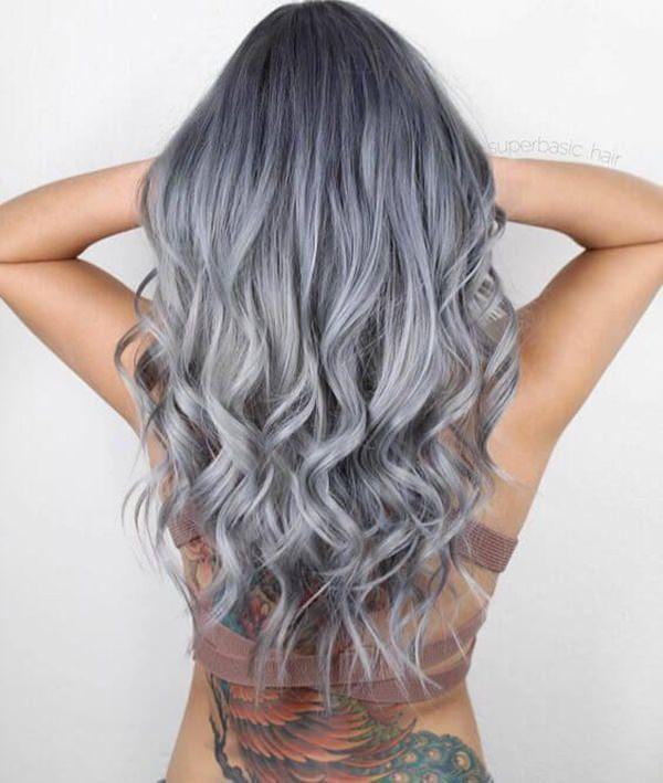 Silver hair 38