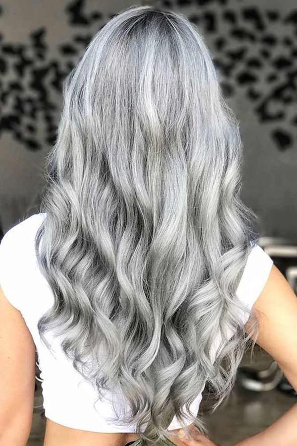 Silver hair 40