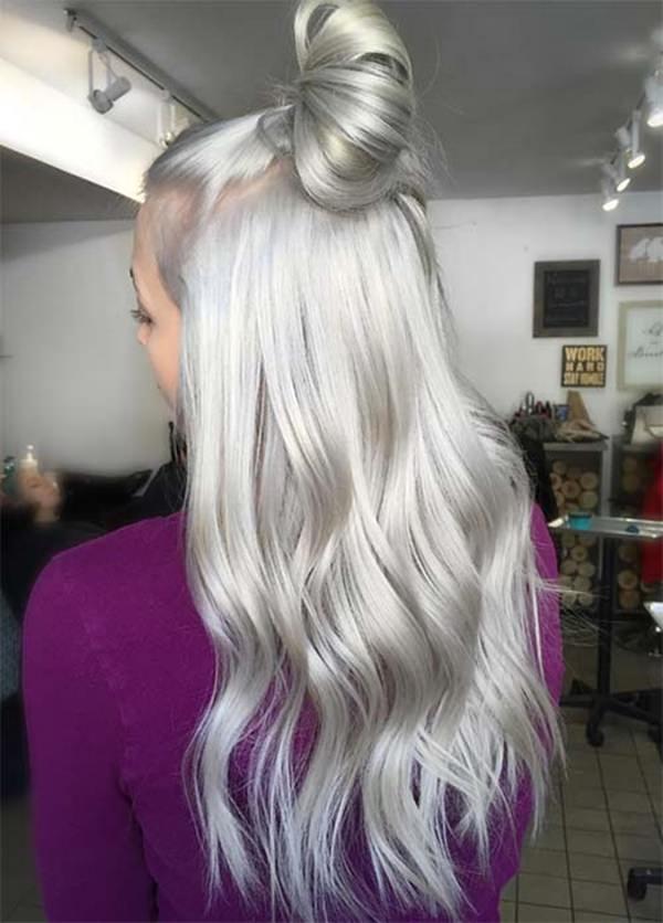 Silver hair 84