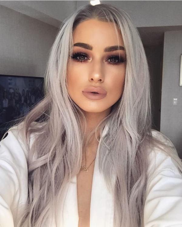 Silver hair 72