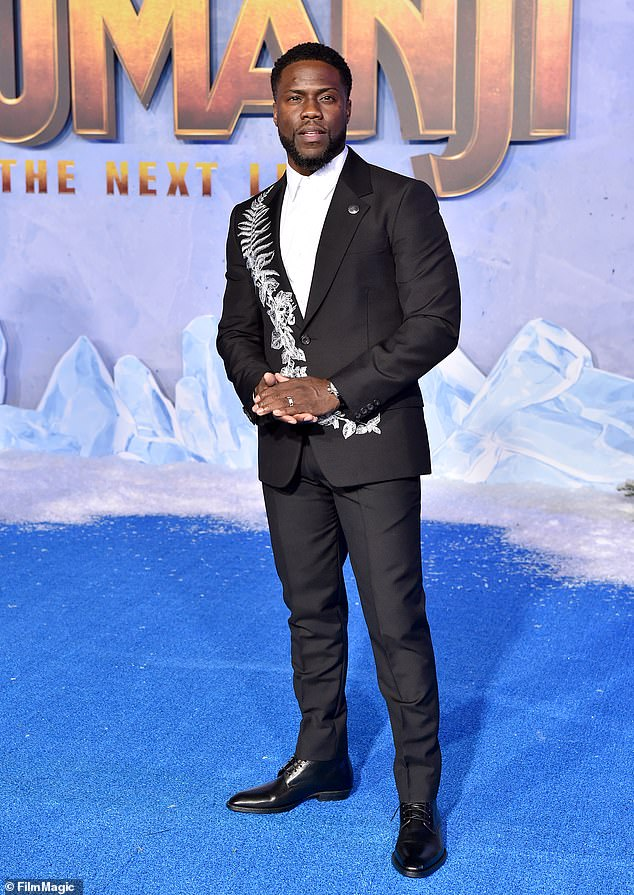 Touch of gray: The Jumanji star complained about his hair going gray without a barber, though Ellen couldn¿t see it. ¿What are you talking about? I look like Morgan Freeman¿s nephew!¿ he shot back