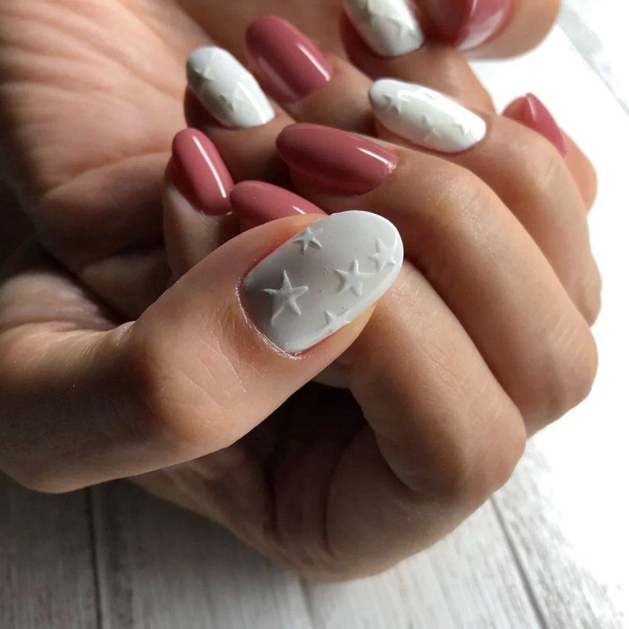 3D stars nails