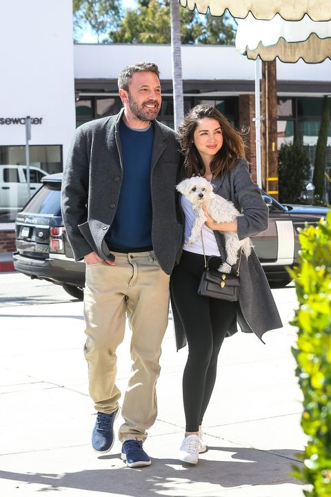 Ben Affleck lashed a big smile while picking up coffee to-go with Ana de Armas