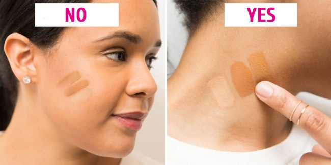 Choose and apply foundation properly