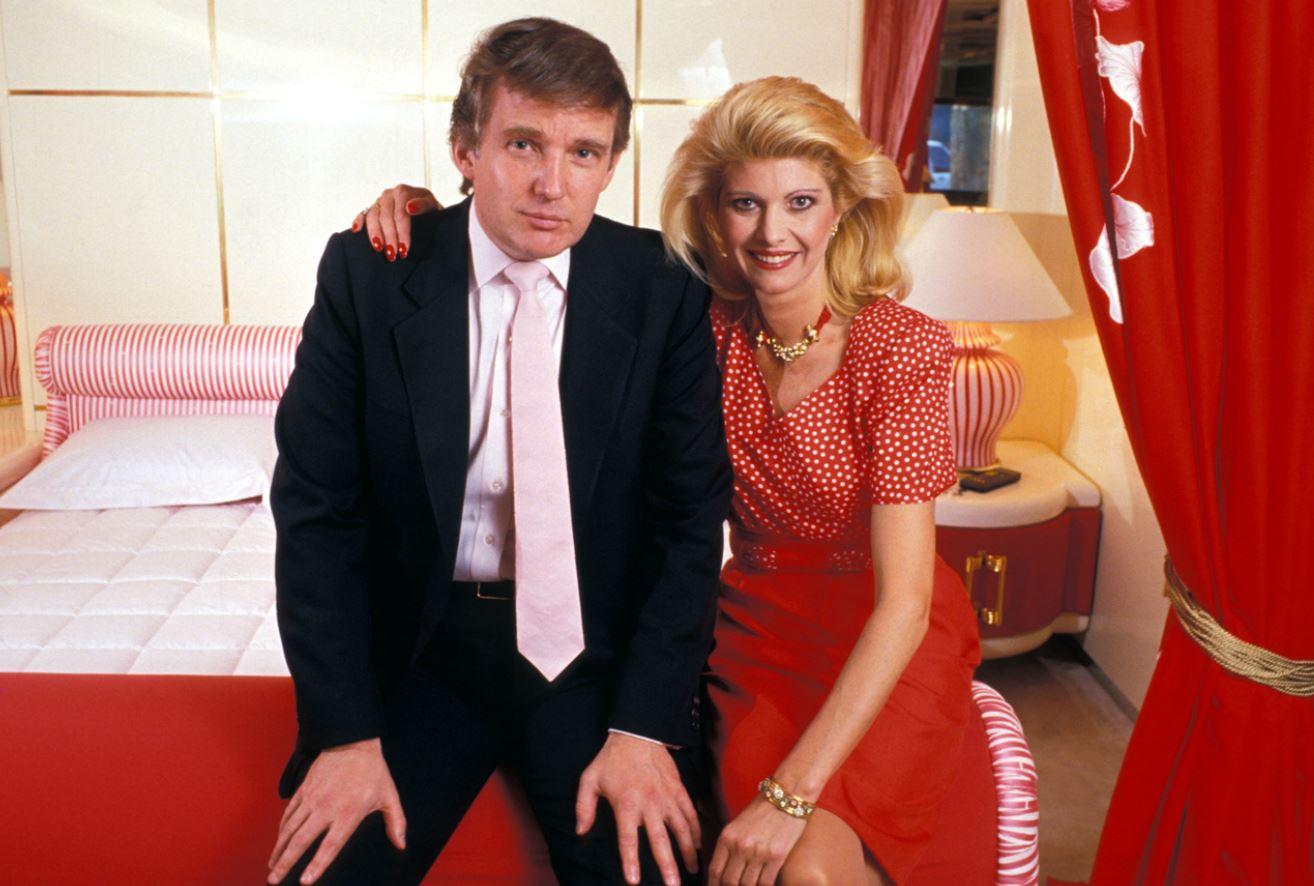 Ivana Zelníčková and Donald Trump