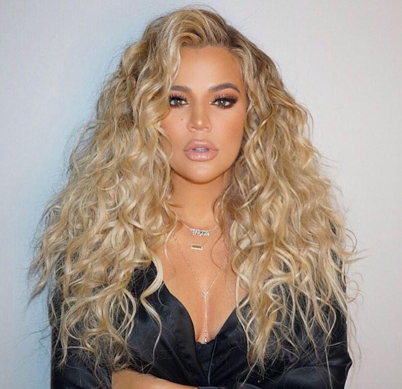 Khloe Kardashian curly hair