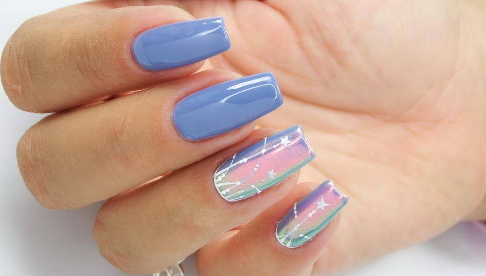 chrome stars nails