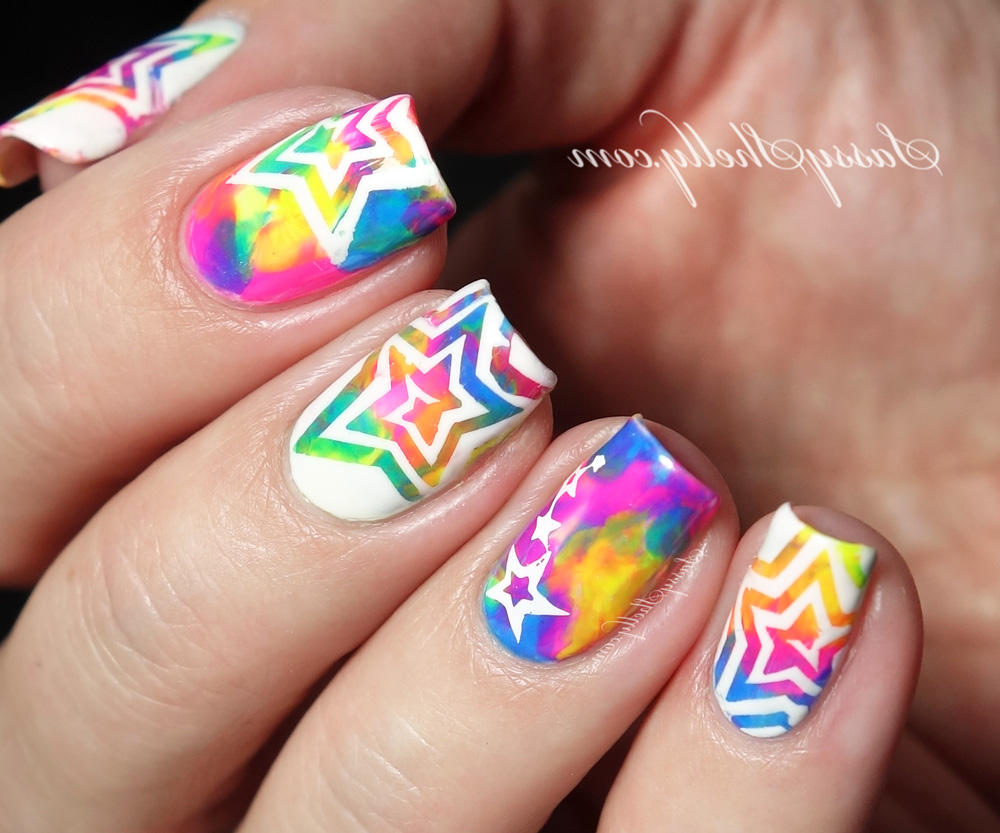 colors star nails