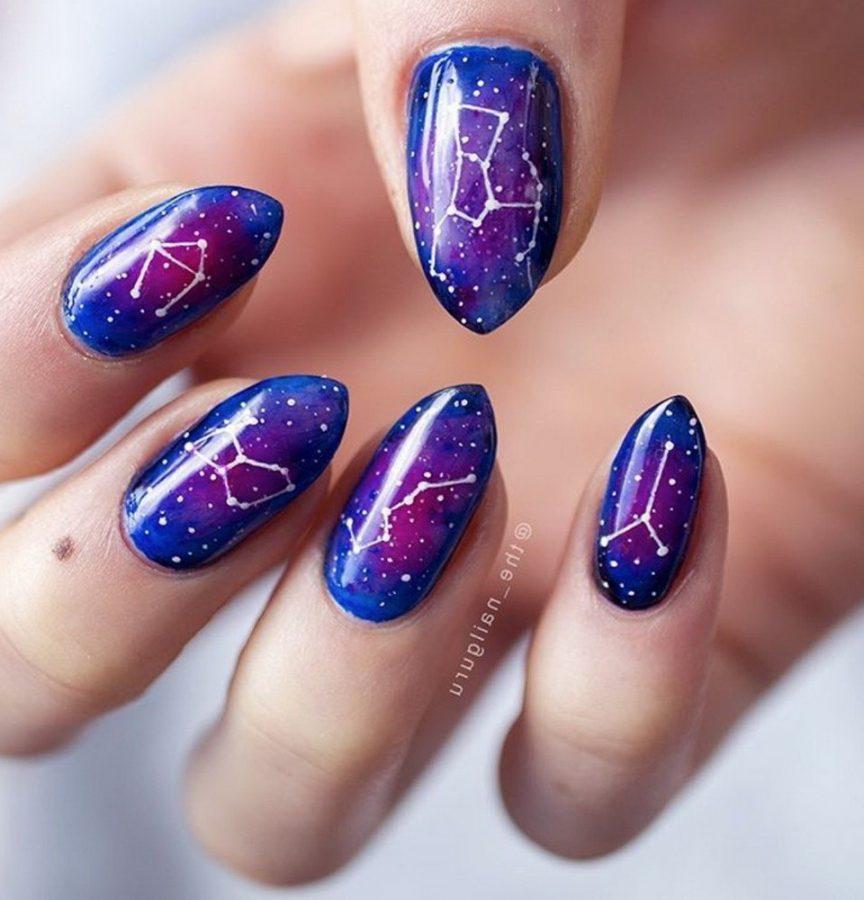 constellation star nails