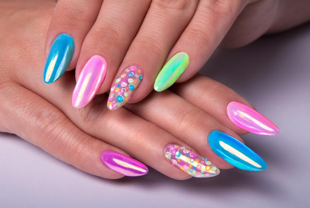 crystal stars nails