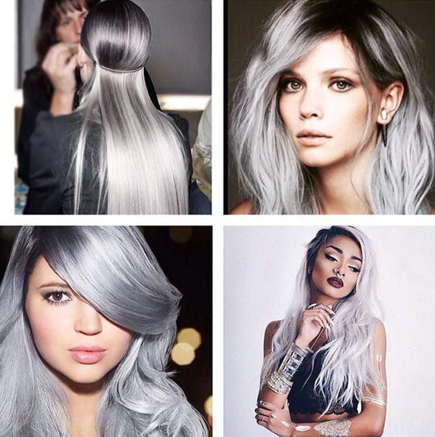 dark silver hair