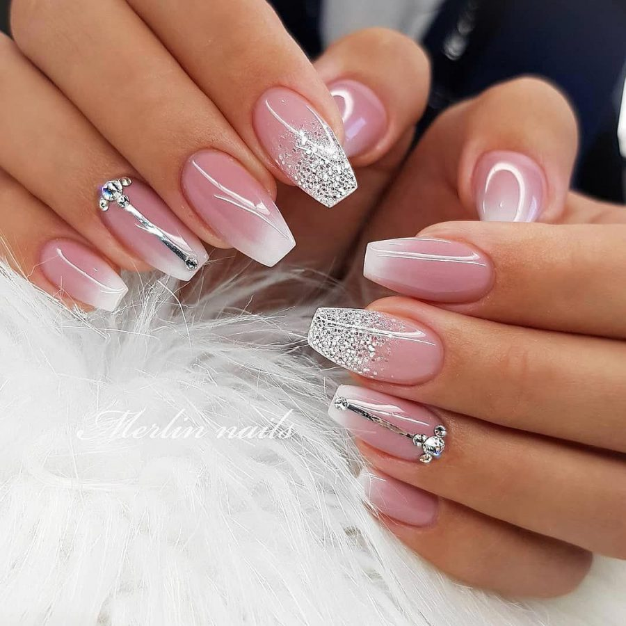 glitter luxury nails
