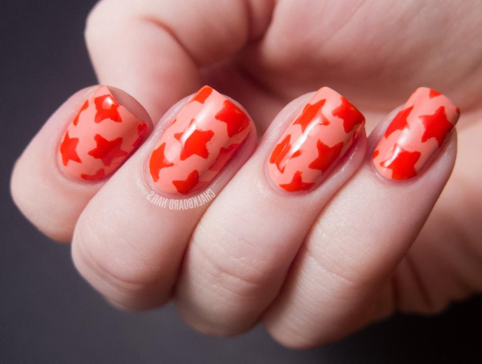 orange star nails