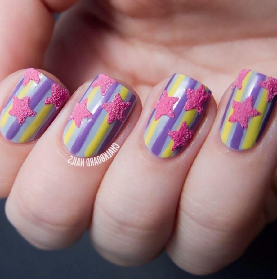 pink star nails